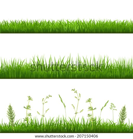 Grass Borders - stock photo