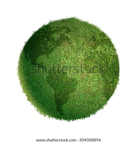 Grass globe isolated.