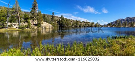 Grass Lake up from Lake Tahoe - stock photo