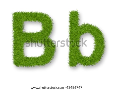 Grass lower-case and upper-case letter B