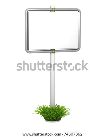 Grass Signpost - stock photo