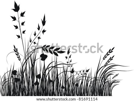 Grass  silhouette - illustration