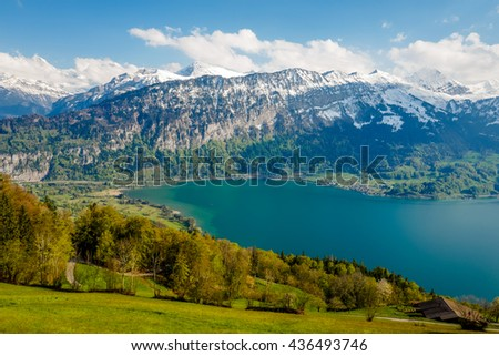 Grass, Sky, Mountain, Beautiful Landscape in Europe