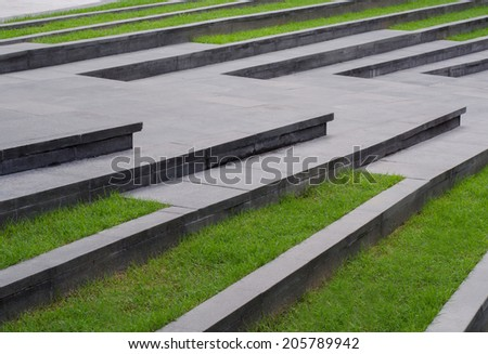 Grass stair ,landscape architecture - stock photo