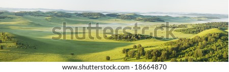 grassland in the north of china - stock photo