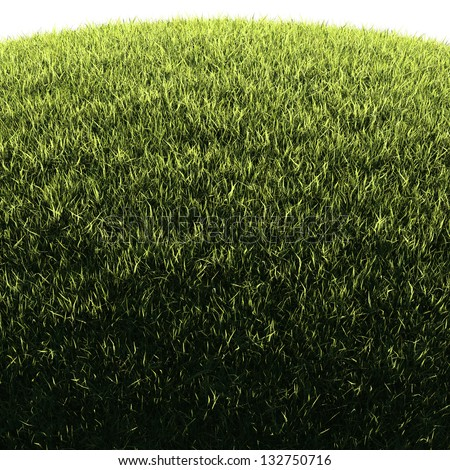 Grassy hill - natural background illustration with copy-space for posters, cards or banners, isolated edge - stock photo