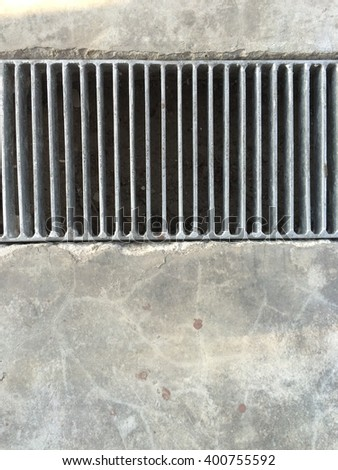 grate on the floor - stock photo