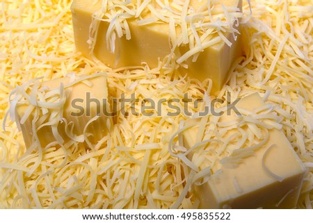 grated a hard cheese texture closeup