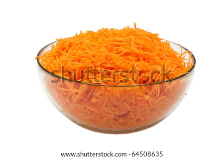 Grated carrots - stock photo