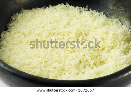 Grated parmesan cheese from Italy - stock photo
