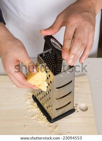 grating cheese - stock photo