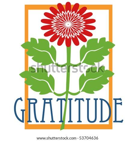 Gratitude Design - stock photo