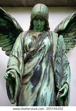 Grave at Melaten Friedhof in Cologne, Germany  - stock photo