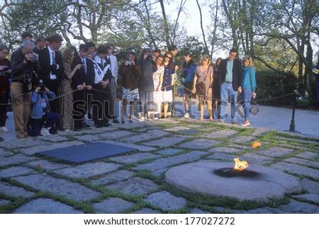 Grave of John F. Kennedy,  Arlington Cemetery, Washington, D.C. - stock photo