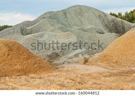 gravel and sand - stock photo