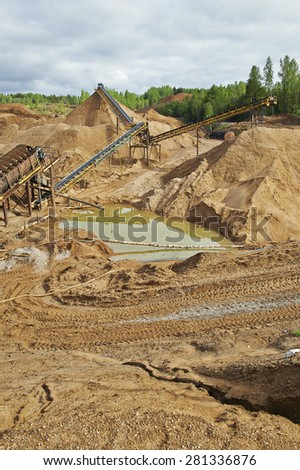 Gravel and sand quarry