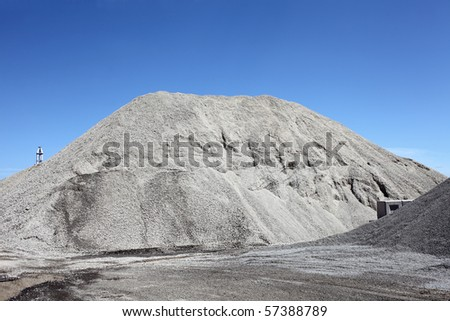 Gravel gray mound - stock photo