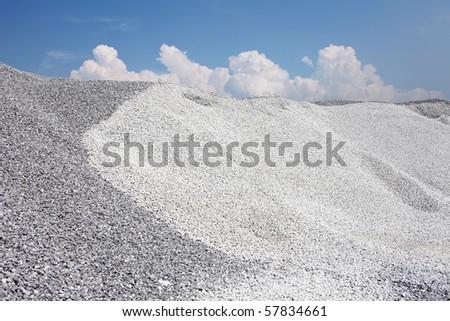 Gravel mound - stock photo