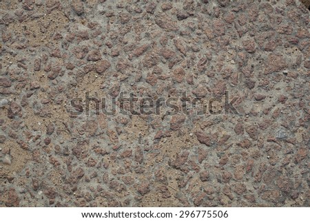 Gravel, pebbles and sand close up - stock photo