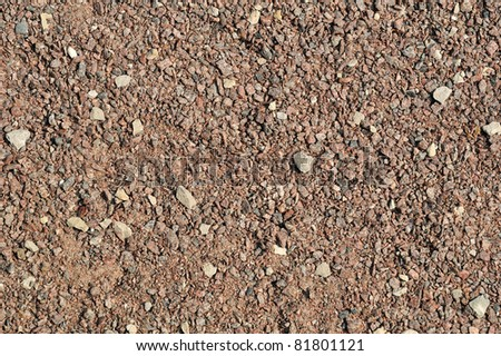 Gravel, pebbles and sand closeup - stock photo