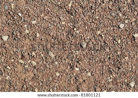Gravel, pebbles and sand closeup - stock photo
