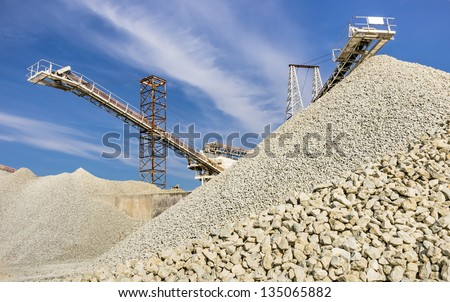 Gravel Quarry - stock photo