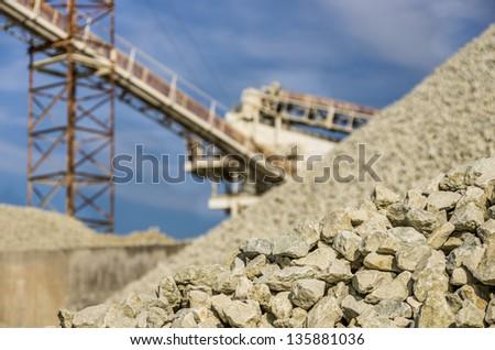 Gravel Quarry - stock photo