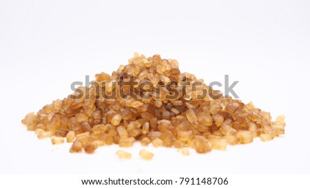 gravel sugar on white background