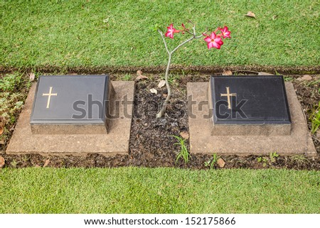 graveyard - stock photo