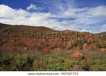 Graveyard Fields on the Blue Ridge Parkway in the Fall