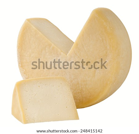 Gravier Greek cheese. Clipping path - stock photo