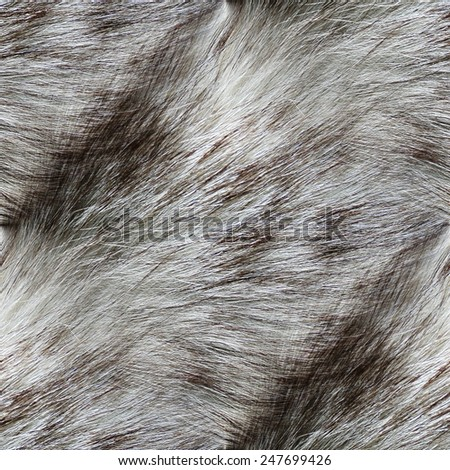 gray abstract background, genuine fur, seamless pattern - stock photo