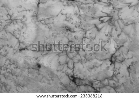 gray abstract background, tie dye technique on silk fabric. - stock photo