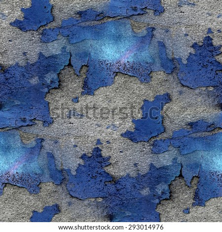 gray and blue cement wall texture, rough surface, seamless pattern - stock photo