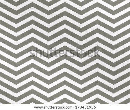 Gray and White Zigzag Textured Fabric Background that is seamless and repeats - stock photo