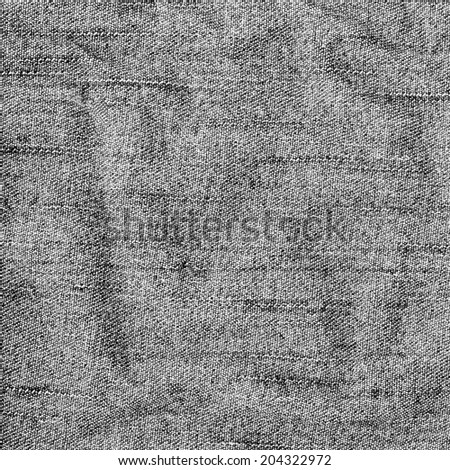 gray background of crumpled jeans fabric  - stock photo