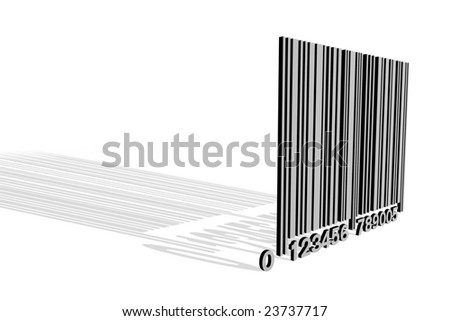 Gray bar code on white background