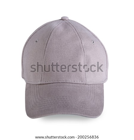 Gray baseball cap isolated on white background