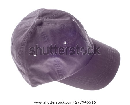 gray baseball cap isolated on white background.