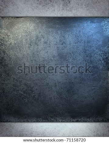 gray blue background layers of dusky blue and metallic blue tones with soft light, faded grunge texture with dark burnt edges design layout and copy space to add your own text title or image - stock photo