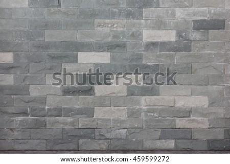 gray brick wall seamless pattern background - stock photo