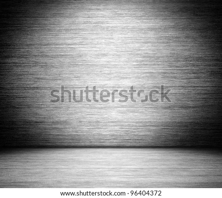 gray brushed metal texture in background
