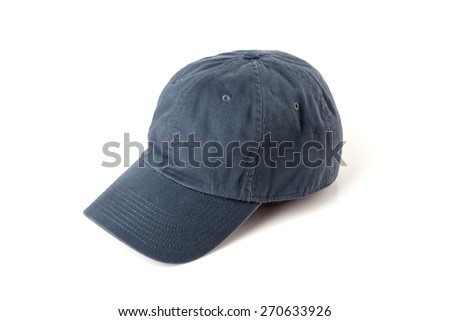 Gray cap on the head ready for branding. - stock photo
