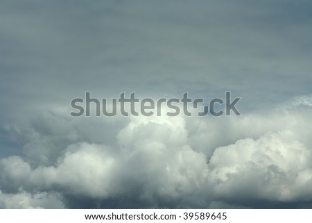 Gray cloud in the sky - stock photo