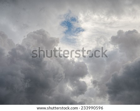 gray clouds in blue sky background - stock photo