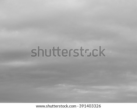 Gray Clouds Sky Backdrop - stock photo
