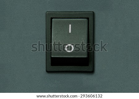 gray electrical switch - stock photo