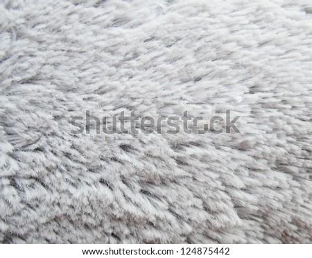 Gray fur texture - stock photo