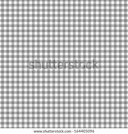 Gray Gingham Fabric Background that is seamless and repeats - stock photo