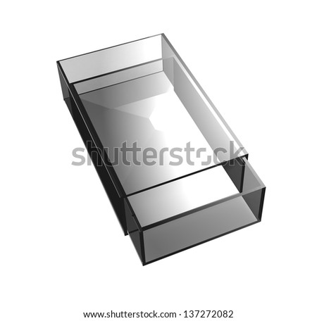 Gray glass matchbox - stock photo
